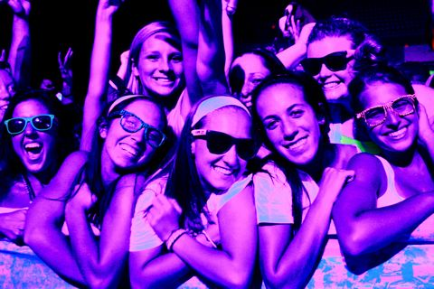 Quinnipiac students attend Dayglow at XL Center