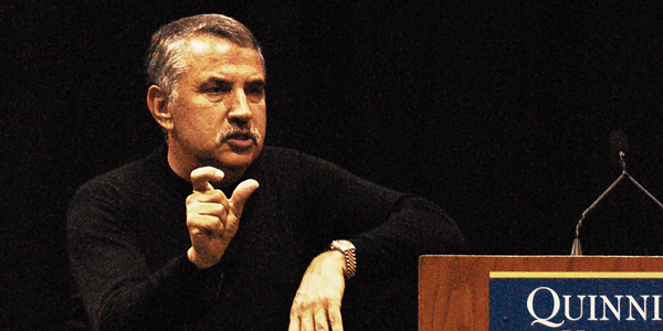 Friedman lectures Lahey, students at Quinnipiac