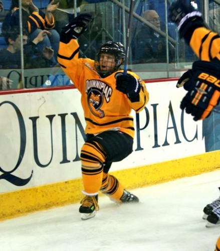 Spencer Heichman celebrates after scoring his first of two goals