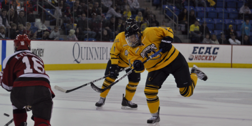 Quinnipiac men's ice hockey loses overtime battle