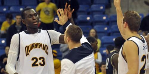 Quinnipiac men's basketball completes comeback, beats Mount St. Mary's in OT