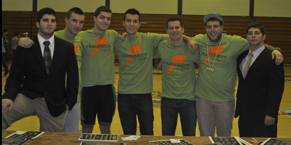 <h3> Fraternity Open House</h3> Members of Quinnipiac fraternities hosted an open house for potential new members.
