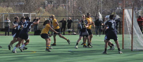 <h3>Quinnipiac 12, Mount St. Mary's 10</h3>Quinnipiac's Marissa Caroleo scores a goal in the second half of Friday's game vs. Mount St. Mary's.