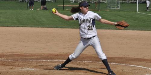 Heather Schwartzburg is the ace of Quinnipiac's pitching staff, as she leads the team with eight wins, 81 strikeouts and a 1.05 ERA.