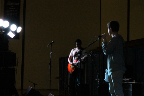 <h3>The Midnighters come in first at Battle of the Bands</h3>Loose Addiction performs at Battle of the Bands.