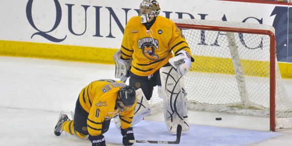 Quinnipiac men's ice hockey falls in Game 1