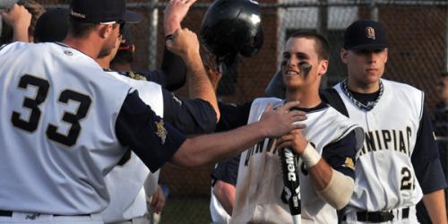 Quinnipiac offense explodes, baseball splits DH