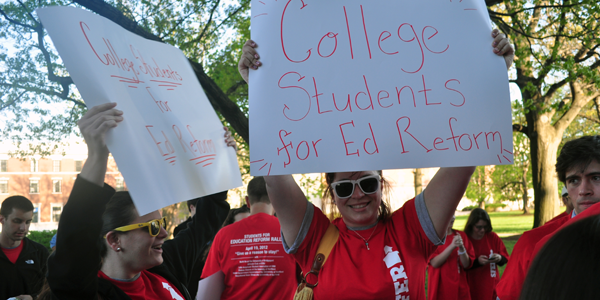 Students for Education Reform rally