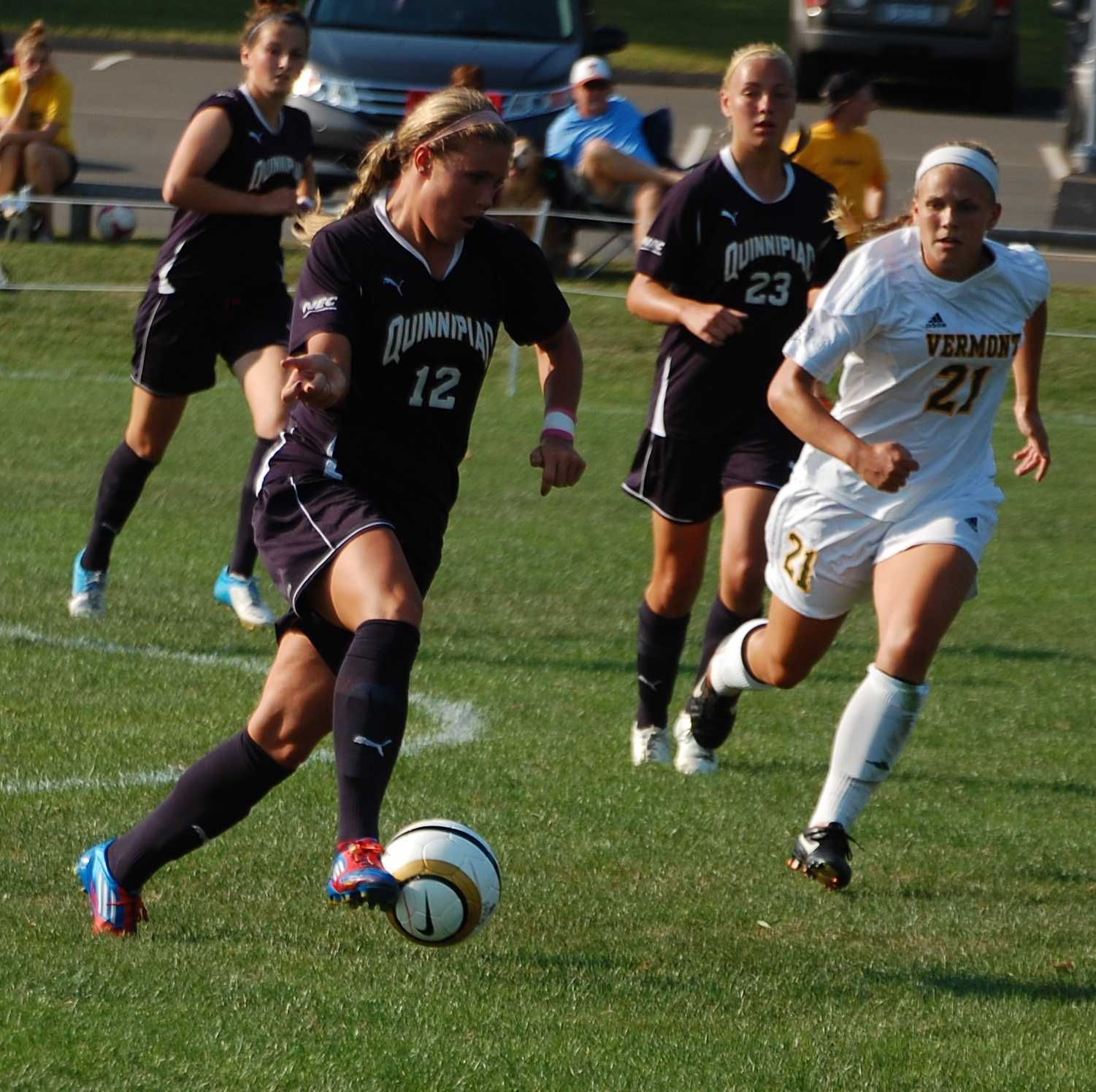 Women's soccer cruises past Catamounts