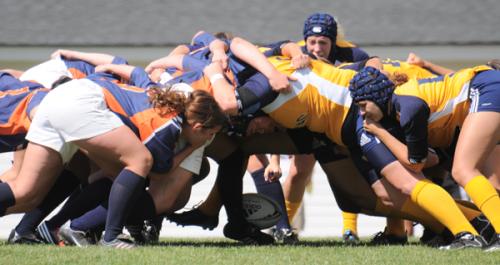 <h3>Quinnipiac 94, New Paltz 0</h3>The Quinnipiac women's rugby team defeated New Paltz, 94-0, Sunday afternoon.