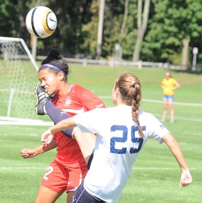 Quinnipiac 1, Hartford 0Quinnipiac's Amanda Barroca kicks the ball during Sunday's game vs. Hartford.