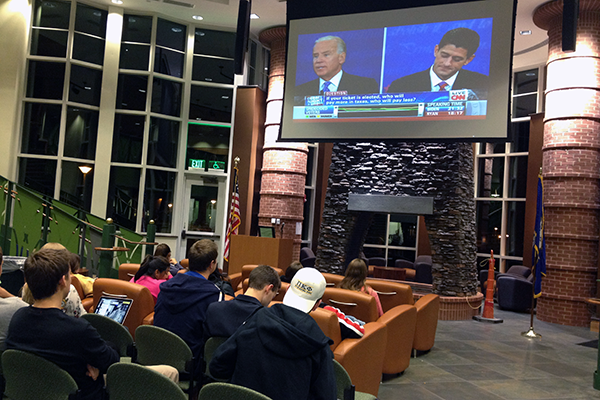 Students react to vice presidential debate