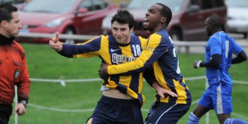 Men's soccer edges CCSU 2-1