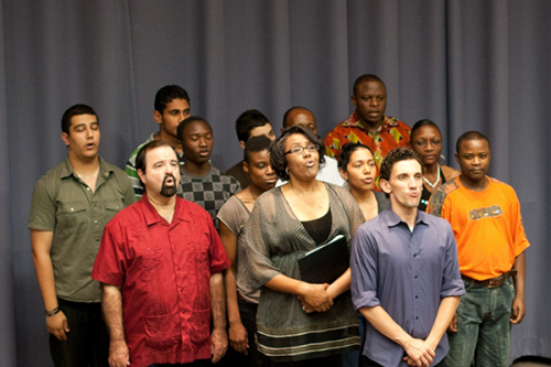 Actors of Collective Consciousness Theater highlighted International Week by performing Stories of a New America