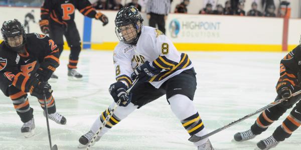 Vigilanti's shutout powers women's ice hockey