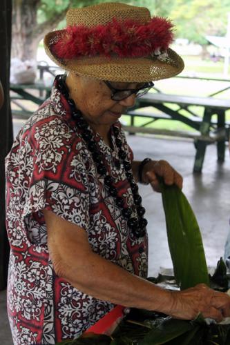 A Hawaiian woman, part of the