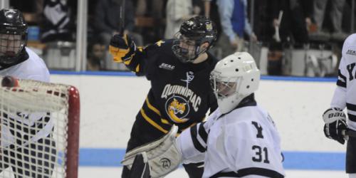 Quinnipiac men's ice hockey bullies Bulldogs