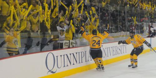 Quinnipiac men's ice hockey beats Yale, takes back Heroes Hat