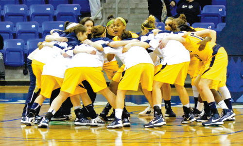 Womens basketball clinches NEC title