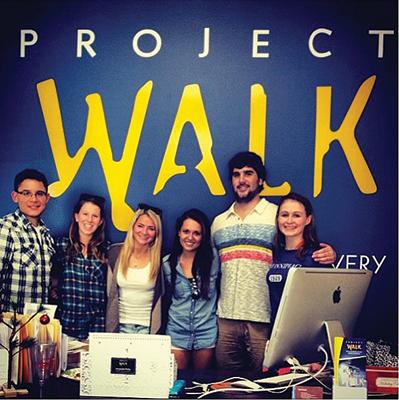 From left: Lorenzo DeCampos, Ariel Mandal, Kristen Fajt, Taylor Montemarano, Gus Robinson and Dayna Schutz.