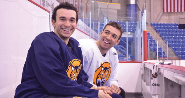 Siblings from California reunite on the ice