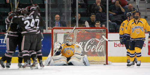 Quinnipiac men's ice hockey falls to Brown in ECAC semis