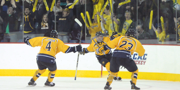 Unlikely heroes lead men's ice hockey to ECAC semifinals