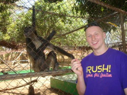 Freshman Charlie Doe spent his spring break on a service trip to Nicaragua.