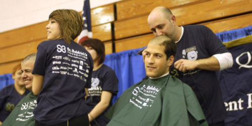 Students go bald for St. Baldrick's