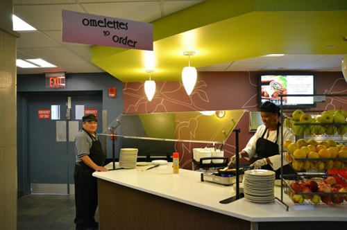 Chartwells introduces new  omelette station