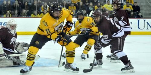 Quinnipiac men's ice hockey falls to Colgate