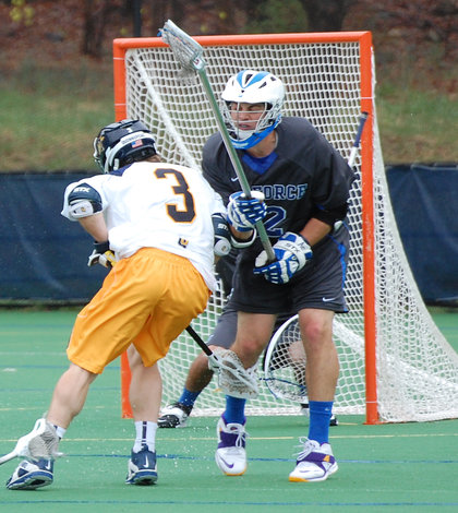 Men's lacrosse holds off Air Force on senior day