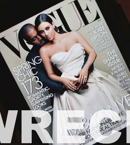 Wreck: Kim and Kanye kill Vogue