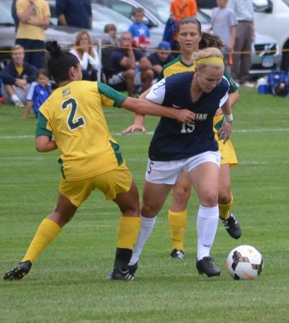 Women's soccer grabs first win