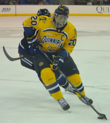 Men's ice hockey edges Bentley in opener