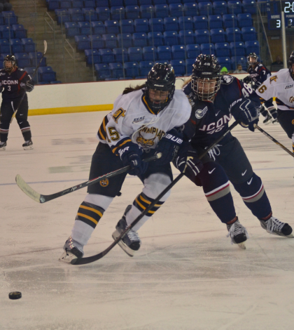 Women's ice hockey topples Connecticut in opener