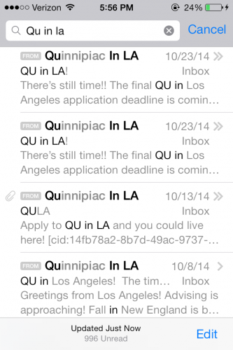 Wreck: drowning in 'QU in LA' emails