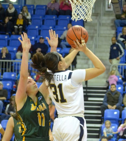 Women's basketball earns first conference win