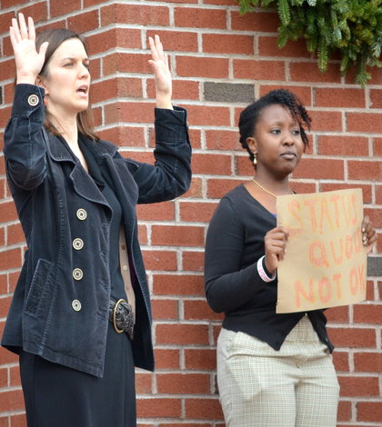 BREAKING: Quinnipiac community protests shooting of Michael Brown