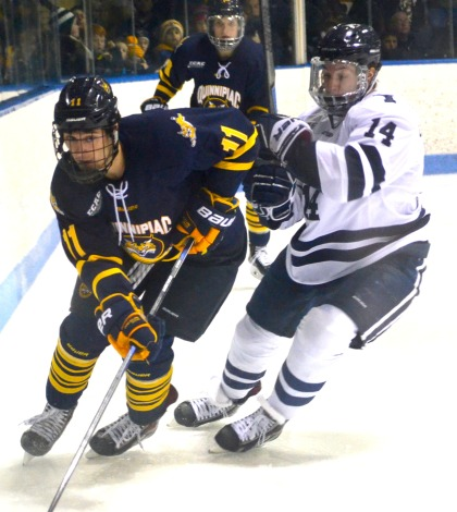Men's ice hockey plays to draw vs. Yale