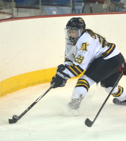Women's ice hockey falls to Harvard in OT