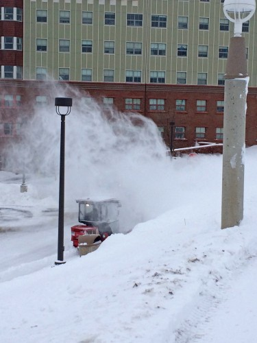 Facilities finishes removing snow across campuses