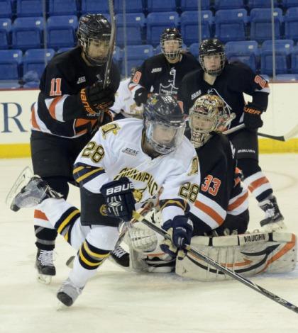 Women's ice hockey sweeps Princeton