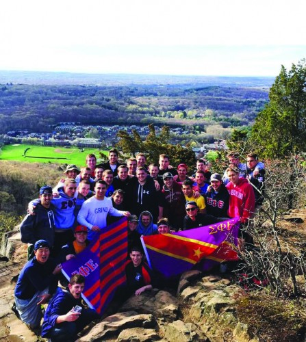 Brothers carry Mullaney up mountain