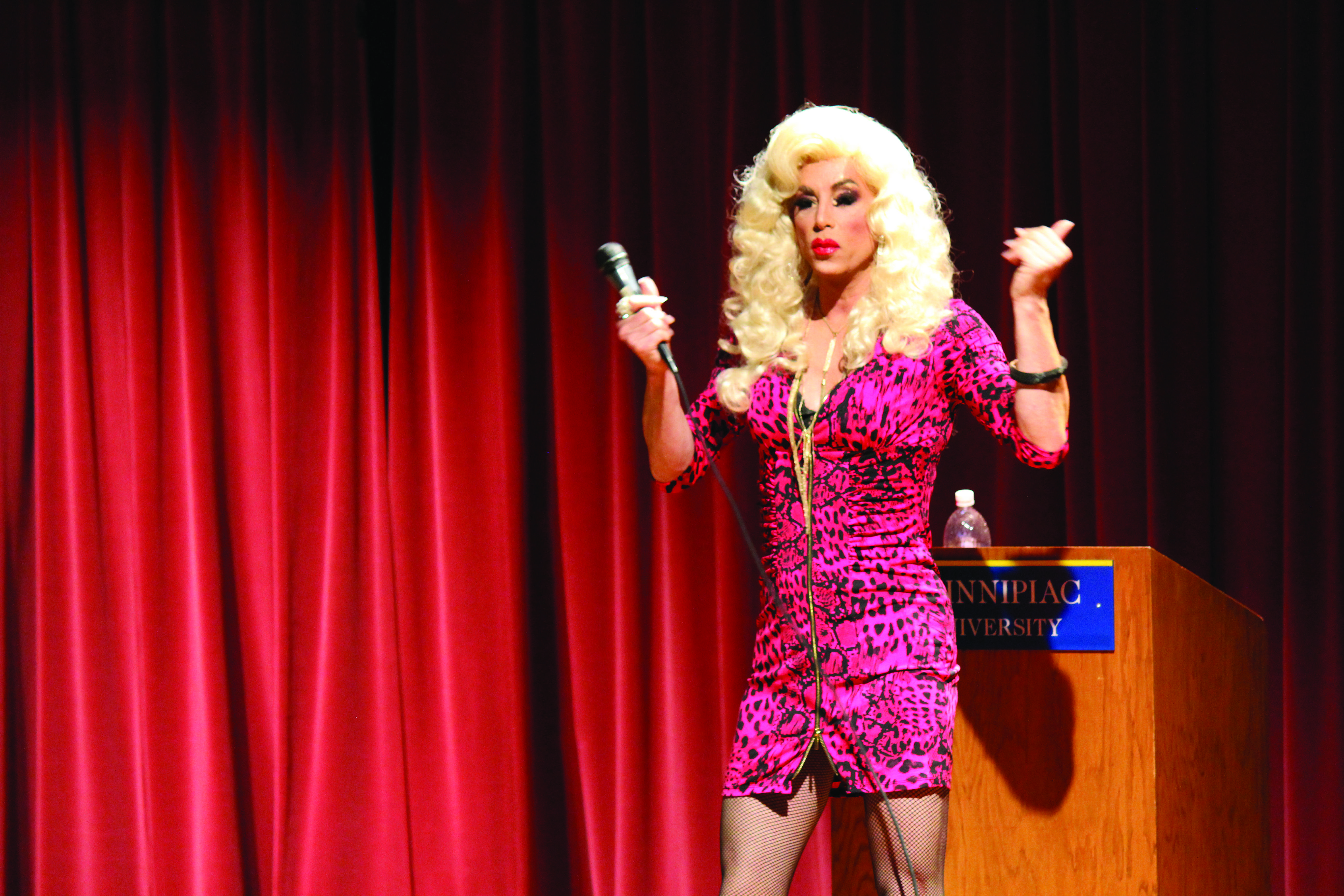 Drag queen Miss Sherry Vine shared the stage with the members of G.L.A.S.S.