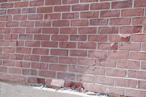 A few bricks were loosened in the Hill residence hall.