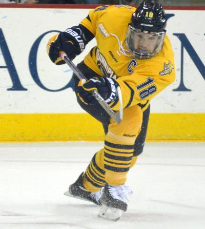 Men's ice hockey completes weekend sweep of St. Cloud State