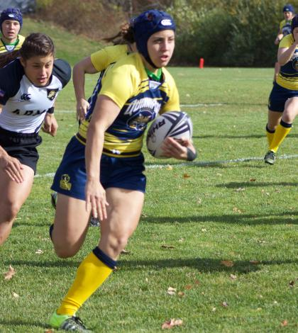 Women's rugby bests Army on Senior Day