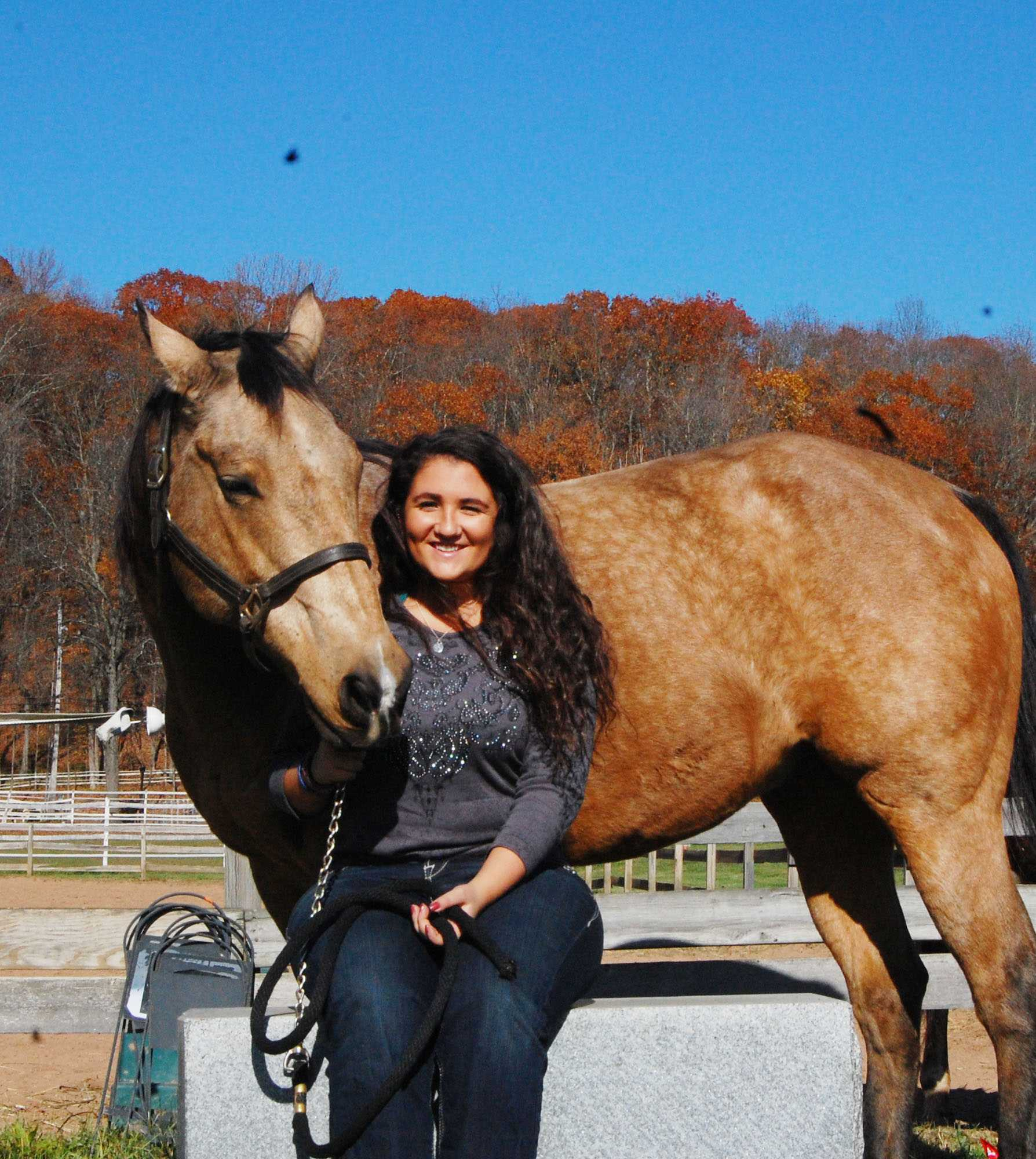 Kristy Latella shows her love for animals, especially her own horse Gunnar. Kristy believes that animal therapy is the best way to relieve stress.