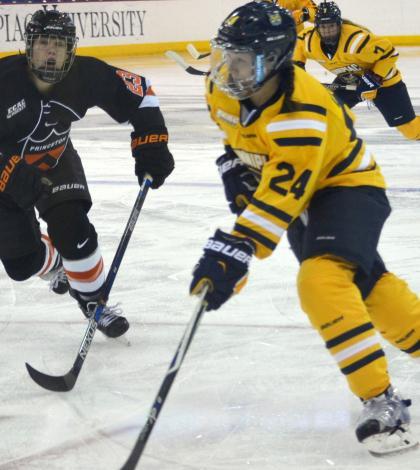 Women's hockey and Princeton tie 1-1